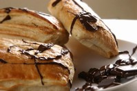 Chocolate pudding Danish