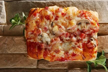 Sonkás-gombás pizza